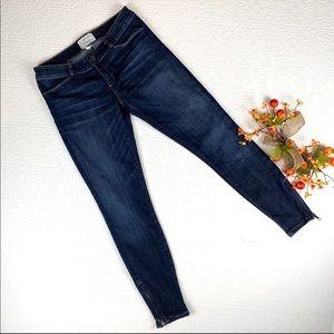 Current Elliot Cropped Zip Ankle Jeans SZ 27